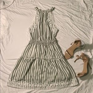 NSR green and white striped dress